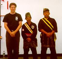 Sigung Richard Clear, Cikgu Sulaiman Sharif, and Cikgu Majid.